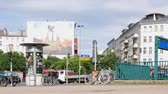 шины : BERLIN, GERMANY - JULY 20, 2018: Pan Shot of Traffic At Metro Station Kleistpark Crossroad In The Inner City of Berlin, Germany Стоковые видеозаписи
