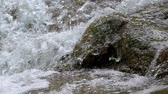 Close-up of A Small Waterfall With Mossy Rocks, Pan Shot