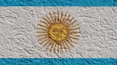 граница : Argentina Politics Or Business Concept: Argentine Flag Wall With Plaster, Background Texture, Zoom Out