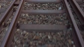 concettuale : Railway Concept: A Close-up of Rails