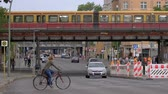 BERLIN, GERMANY - JULY 14, 2019: Traffic And S-Bahn Train At The Yorckbruecken, Historic Railway Bridges Spanning Over Yorckstrasse In Berlin, Germany
