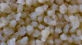 parný : Macro Close-up of Couscous, Small Steamed Balls, Traditional North African Dish, Food Background, Pan Shot