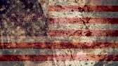 concettuale : Very Grungy Vintage American Flag, USA Grunge Background Texture, Zoom Out