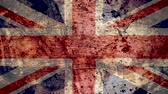 concettuale : Very Grungy Vintage UK Flag, Great Britain Grunge Background Texture, Zoom Out Filmati Stock
