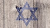 concettuale : Israel Politics News Concept: Israeli Flag Wooden Fence, Zoom Out
