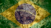 concettuale : Very Grungy Vintage Brazilian Flag, Brazil Grunge Background Texture, Zoom Out Filmati Stock