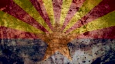 concettuale : Very Grungy Vintage Arizona Flag, Grunge Background Texture, Zoom Out