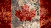 concettuale : Very Grungy Vintage Canadian Flag, Canada Grunge Background Texture, Zoom Out Filmati Stock