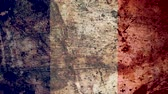 concettuale : Very Grungy Vintage French Flag, France Grunge Background Texture, Zoom Out Filmati Stock
