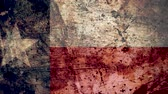 テキサス州 : Very Grungy Vintage Texas Flag, Grunge Background Texture, Zoom Out