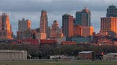 kansas : Kansas City Missouri Clay County Downtown City Skyline Sunrise