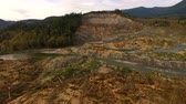 landslide : Steelhead Haven Oso Wahington Mudslide Site Stillaguamish River Stock Footage