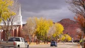 Downtown Main Street Autumn Season Kanab Utah