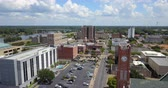 louisiana : Aerial View Downtown Alexandria Louisiana Rapides Parish USA Stock Footage