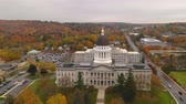Капитолий : Capitol Building State House Augusta Maine Autumn Season Aerial