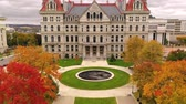 Капитолий : Capitol Building State House Albany New York Fall Color Autumn Season