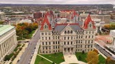 governmental : Aerial Perspective Over The Capitol City of New York at Albany