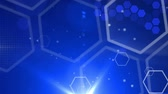 glow : abstract background honeycomb