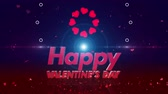 border : Happy valentines day 4K Stock Footage