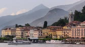 звук : Lake Como view and Bellagio city, Italy