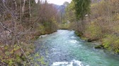 tranquilo : Autumn view of mountain river in Berchtesgaden Alps, Bavaria, Germany