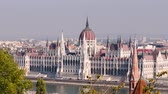 church : Budapest Parliament. City skyline and Danube river, Hungary