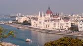 Budapest Parliament. City skyline and Danube river, Hungary