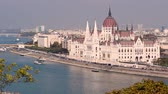 ship : Budapest Parliament. City skyline and Danube river, Hungary