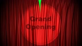 brzy : Red, Cinema style curtain with Grand Opening projected on it opens to green screen. Also comes with the Alpha Matte!