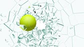 game : From my Glass Smash collection, a Tennis Ball shatters a pane of Glass. Comes with the Alpha Matte.