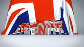 brzy : British flag raises to reveal Grand Opening text