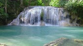 칸차나 부리 : Beautiful Erawan waterfall in national park  forest , Kanchanaburi Province, Thailand