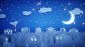 sněhulák : Winter Paper flat animation. Happy new year and xmas background. Snowfall. Realistic 4K animation.