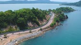 coastal road : Noen-nangphaya view point is a viewpoint that is considered beautiful in the east. On Chalerm Burapha Chonlathit Road. Stock Footage