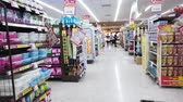 polc : Hyperlapse Video of shelves aisle in supermarket. Bangkok, Thailand. 24 May 2019