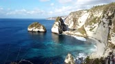 Time lapse Diamond beach in Nusa penida island,Bali,Indonesia