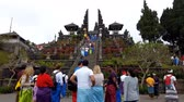 Time lapse Tourists come to visit the beautiful old temple. Pura Besakih temple Bali,Indonesia Wideo