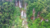 Clip of Tee lor su waterfall in Thailand at the tropical forest , Umphang District, Tak Province, Thailand