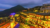 Time lapse Hillside teahouses in Jiufen,Ruifang, Taiwan Wideo