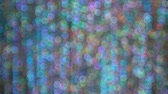 Blurry bokeh with bright colors from glittering materials and lights