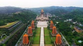 Scenic view of Fo Guang Shan buddha memorial center in Kaohsiung,Taiwan Wideo