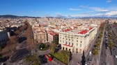 memorial : Aerial view of Barcelona, Catalonia, Spain Stock Footage