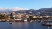 madeira : Cityscape of Funchal – capital city of Madeira Island, Portugal Stock Footage