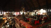 oriental republic of uruguay : Uruguay, Montevideo, Old Town, Interior view of the Mercado del Puerto. Stock Footage