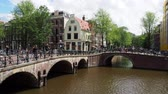 atmosférico : Keizersgracht and Leliegrach Canals and Bridges, Amsterdam, North Holland, The Netherlands