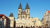 всемирного наследия : Church of Our Lady before Tyn, Old Town Square, Prague, Bohemia Region, Czech Republic