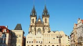 dik dik bakmak : Church of Our Lady before Tyn, Old Town Square, Prague, Bohemia Region, Czech Republic