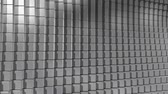 Shiny reflective metal cube animated looping background