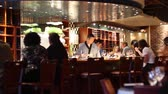 meal : people at chic sushi bar