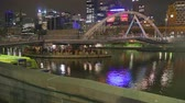 patio : MELBOURNE,AUSTRALIA - CIRCA May 2013 :6 angles - night life at southgate - yarra river area patio restaurants